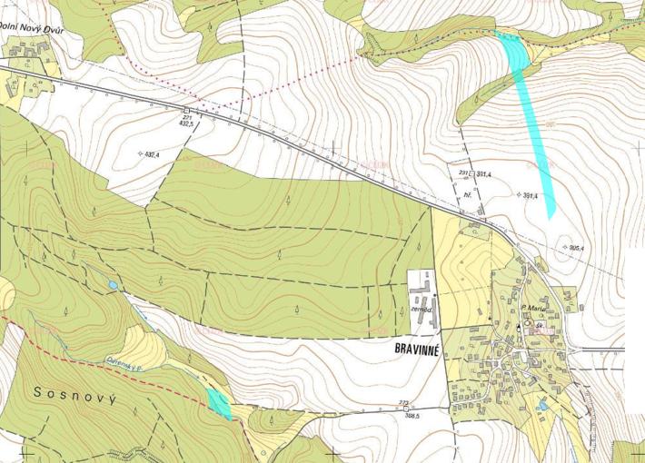prodej pozemku kú Bravinné, LV č. 174, 27 034