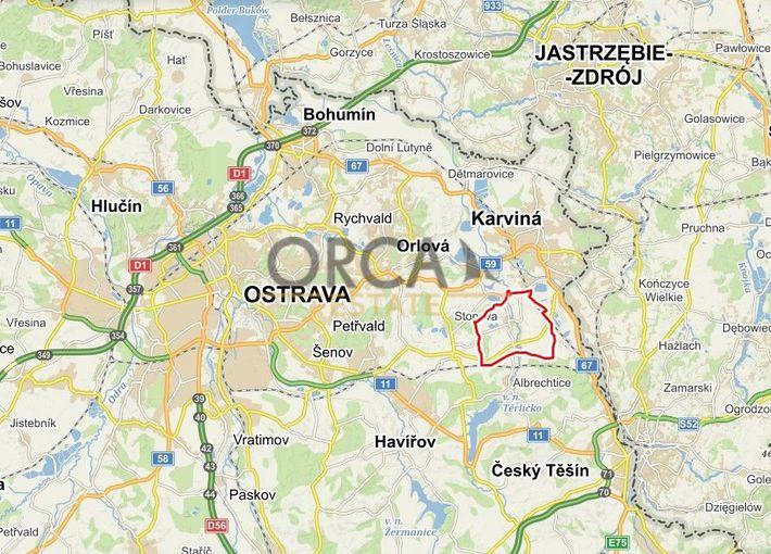 0,8 ha pozemků v k.ú. Stonava